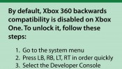 Xbox One 360 Backwards Compatability Scam