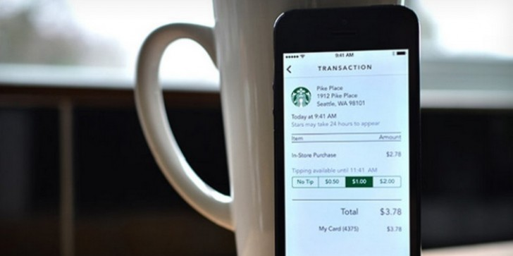 Tip Starbucks Baristas from Your iPhone