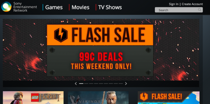 99 Cent Flash Sale Hits PlayStation Network for Easter Weekend