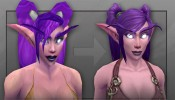 World of Warcraft Night Elf Before and After
