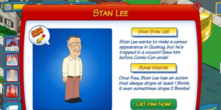 Family Guy: The Quest For Stuff Comic Con Update: Here's How To Unlock Stan Lee And Bomb Minion Stewies