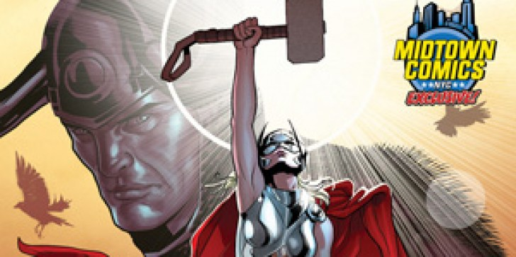 Pick Up Some Exclusive NYCC Variant Covers For The Female Thor And The Death Of Wolverine At The Midtown Comics Booth