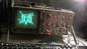 Quake running on a Oscilloscope