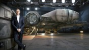 Bob Iger Stands with the Millennium Falcon