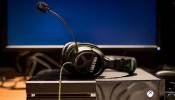 Xbox games console and headset