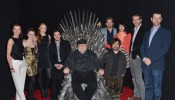 George R.R. Martin with the 'Game of Thrones' Cast