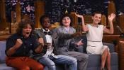 Finn Wolfhard, Millie Bobby Brown, Gaten Matarazzo and Caleb McLaughlin Visit 'The Tonight Show Starring Jimmy Fallon'
