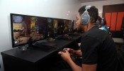 Karl-Anthony Towns Visits Activision's Call Of Duty: Black Ops 3 Booth At E3 2015 In Los Angeles