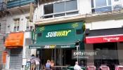 Paris, Rue Saint-Denis Subway sandwiches sub shop restaurant tables chairs outside exterior