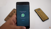 A user demos the video calling feature in WhatsApp