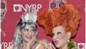 NYRP Executive Director Deborah Marton and Bette Midler attend the 2016 Hulaween Party Celebrating New York Restoration Project's 21st Anniversary at The Waldorf=Astoria on October 28, 2016 in New York