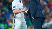 James Rodriguez and Zinedine Zidane