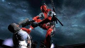 Deadpool introduces foot to neck