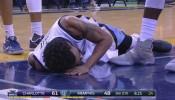 Mike Conley Fractured Vertebrae Injury | November 28, 2016 | 2016-17 NBA Season