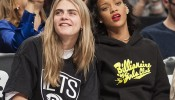Rihanna Takes Cara Delevingne to Her First Basketball Game | Splash News TV | Splash News TV