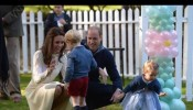 Cutest Moments From Prince George, Princess Charlotte At Children's Party in Canada