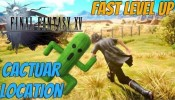 Final Fantasy XV - Cactuar Fight Location (How To Level Up Fast Early)