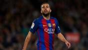 Jordi Alba FC Barcelona v Malaga CF - La Liga
