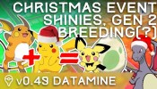 POKÉMON GO HIDDEN UPDATES: GEN 2 SFX, SHINY POKÉMON, GENDER, BABIES (BREEDING?), CHRISTMAS EVENT