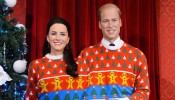 William and Kate Share a Christmas Jumper for the Royal Christmas Photo at Madame Tussauds