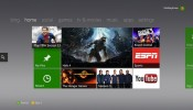 Current Xbox Live dashboard