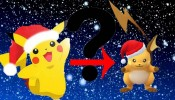 Does Santa Pikachu turn into a Christmas Raichu?