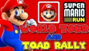 SUPER MARIO RUN Gameplay | World Tour World 1 and Toad Rally Mode