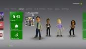 Xbox Live Dashboard with avatars
