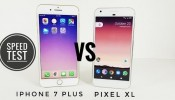 Google Pixel XL vs iPhone 7 Plus - Speed Test