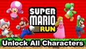 SUPER MARIO RUN - How to Unlock All Characters (Luigi, Peach, Toad, Toadette, Yushi)