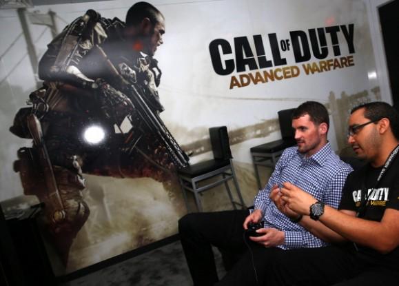 Kevin Love Attends Call of Duty: Advanced Warfare E3 Booth