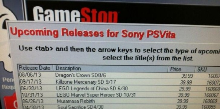 Four Major PlayStation Vita Games' Release Dates Revealed [LEAKS]