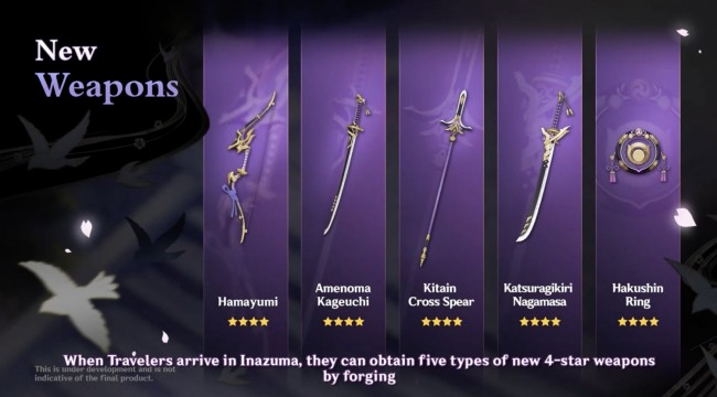 4-STAR WEAPONS