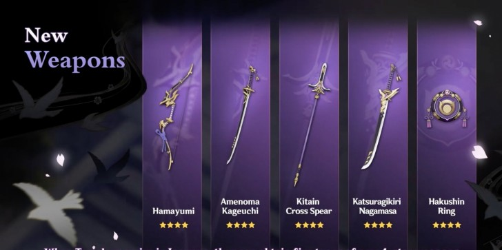 Genshin Impact Version 2.0 Weapons, Artifacts Guide: Stat Bonuses, How to Craft the 4-Star Weapons