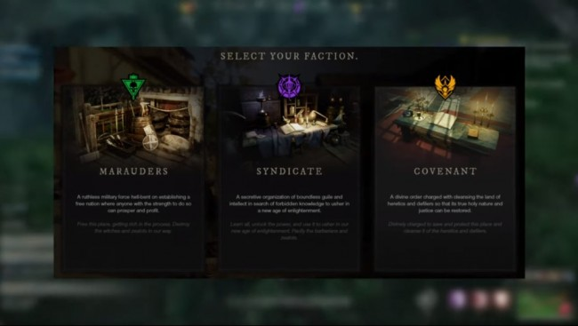 NEW WORLD FACTIONS