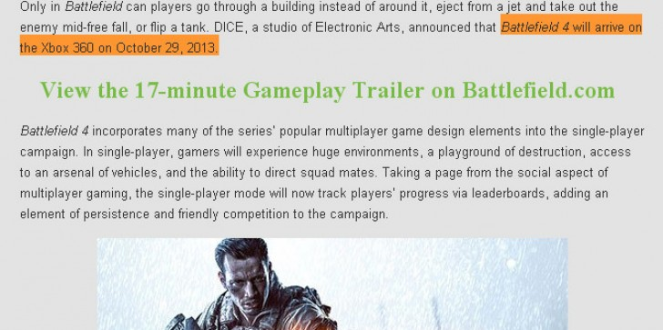 'Battlefield 4' Arriving On Oct. 29 For Xbox 360? [LEAKS?]
