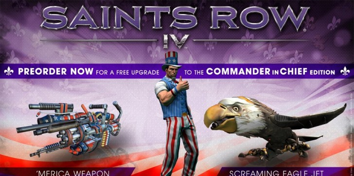 'Saints Row IV' Gets Patriotic With The Commander in Chief Edition Pre-Order