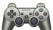Metallic gray DualShock 3 wireless PS3 controller