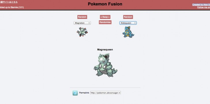 Fan Created Pokemon Fusion Site Allows Users To Mix And Match
