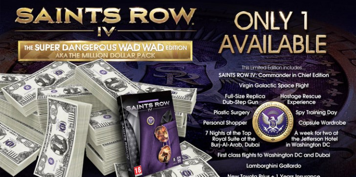 Special edition of Saints Row 4 costs $1,000,000